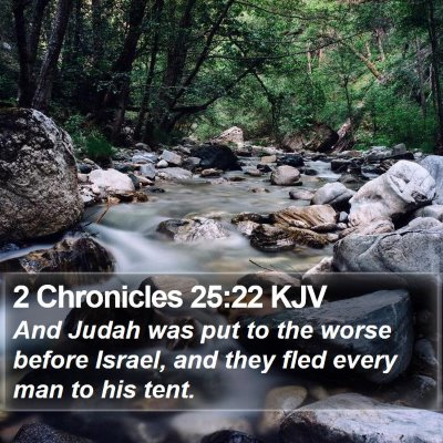 2 Chronicles 25:22 KJV Bible Verse Image