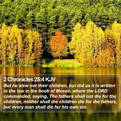 2 Chronicles 25:4 KJV Bible Verse Image