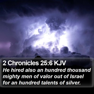 2 Chronicles 25:6 KJV Bible Verse Image