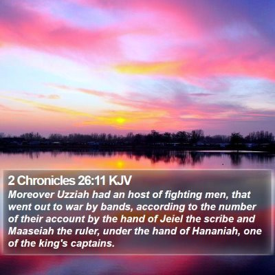 2 Chronicles 26:11 KJV Bible Verse Image