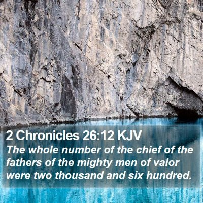 2 Chronicles 26:12 KJV Bible Verse Image
