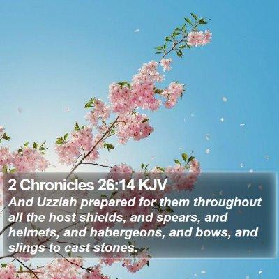 2 Chronicles 26:14 KJV Bible Verse Image