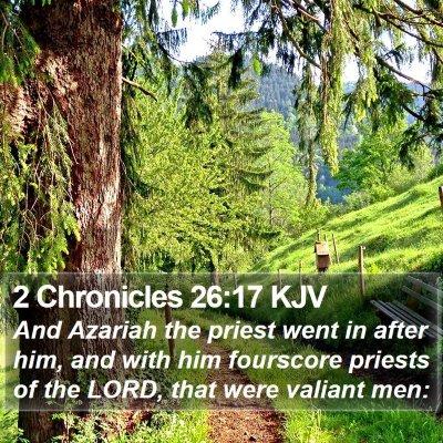 2 Chronicles 26:17 KJV Bible Verse Image