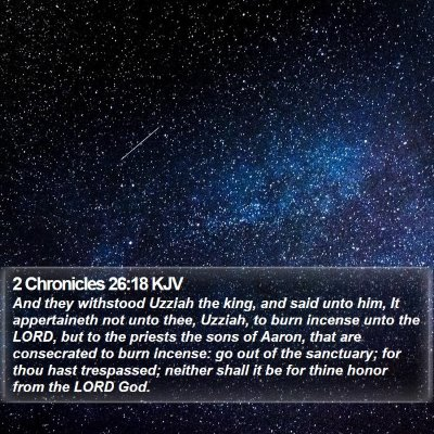 2 Chronicles 26:18 KJV Bible Verse Image