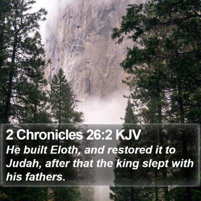 2 Chronicles 26:2 KJV Bible Verse Image