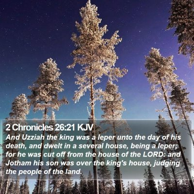 2 Chronicles 26:21 KJV Bible Verse Image