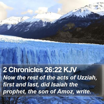 2 Chronicles 26:22 KJV Bible Verse Image