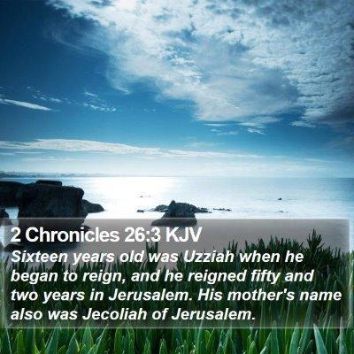 2 Chronicles 26:3 KJV Bible Verse Image