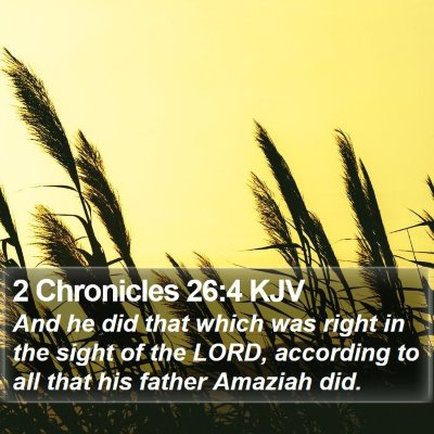 2 Chronicles 26:4 KJV Bible Verse Image