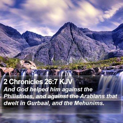 2 Chronicles 26:7 KJV Bible Verse Image