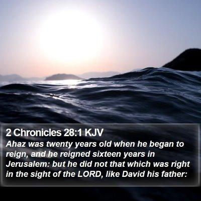 2 Chronicles 28:1 KJV Bible Verse Image