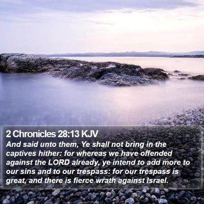 2 Chronicles 28:13 KJV Bible Verse Image