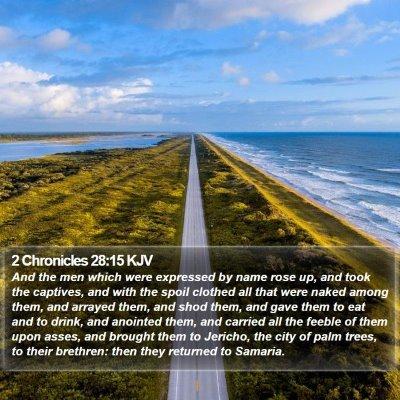 2 Chronicles 28:15 KJV Bible Verse Image