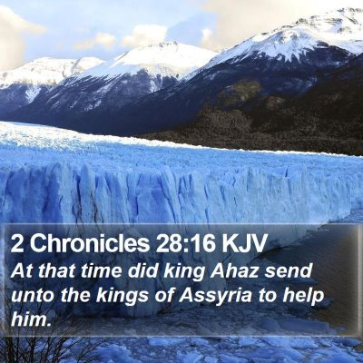 2 Chronicles 28:16 KJV Bible Verse Image