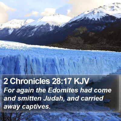 2 Chronicles 28:17 KJV Bible Verse Image