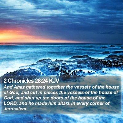 2 Chronicles 28:24 KJV Bible Verse Image