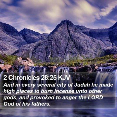 2 Chronicles 28:25 KJV Bible Verse Image