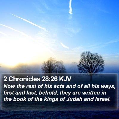 2 Chronicles 28:26 KJV Bible Verse Image