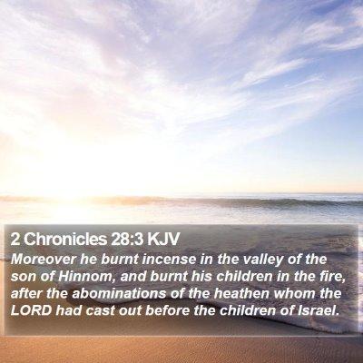 2 Chronicles 28:3 KJV Bible Verse Image