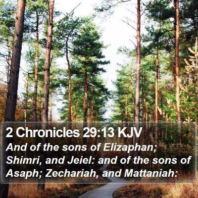2 Chronicles 29:13 KJV Bible Verse Image
