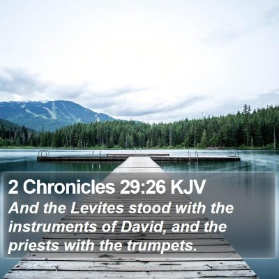 2 Chronicles 29:26 KJV Bible Verse Image