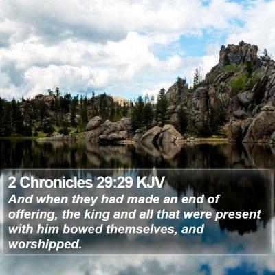 2 Chronicles 29:29 KJV Bible Verse Image