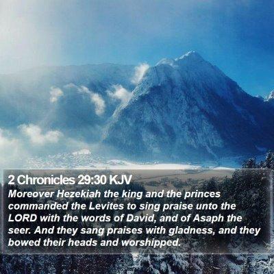 2 Chronicles 29:30 KJV Bible Verse Image