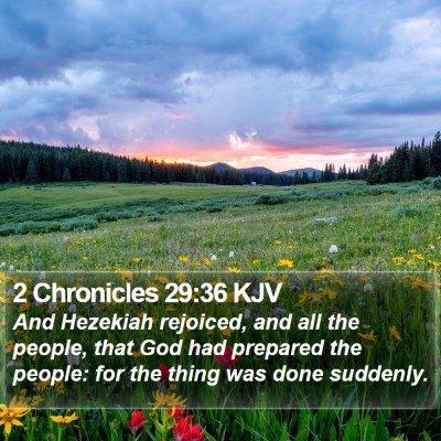 2 Chronicles 29:36 KJV Bible Verse Image