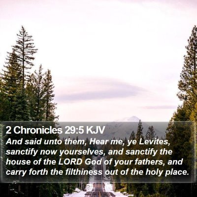 2 Chronicles 29:5 KJV Bible Verse Image
