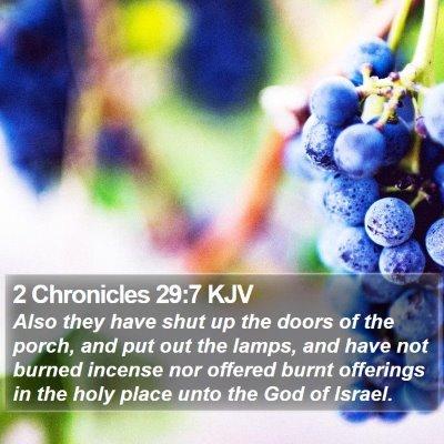 2 Chronicles 29:7 KJV Bible Verse Image