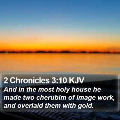 2 Chronicles 3:10 KJV Bible Verse Image