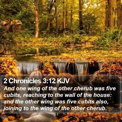 2 Chronicles 3:12 KJV Bible Verse Image