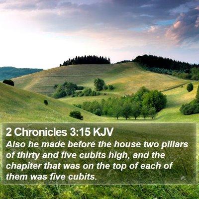 2 Chronicles 3:15 KJV Bible Verse Image