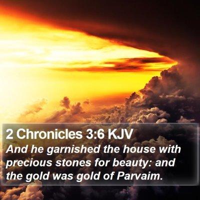 2 Chronicles 3:6 KJV Bible Verse Image