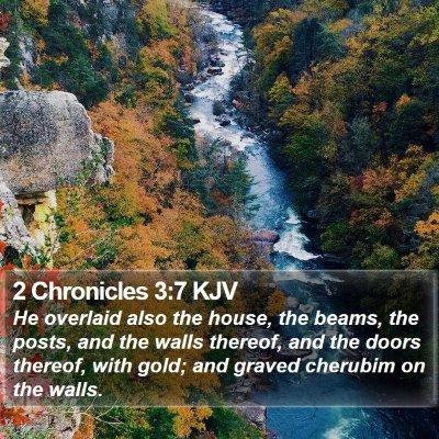 2 Chronicles 3:7 KJV Bible Verse Image