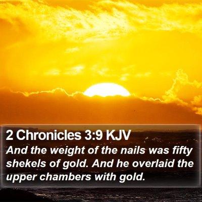 2 Chronicles 3:9 KJV Bible Verse Image