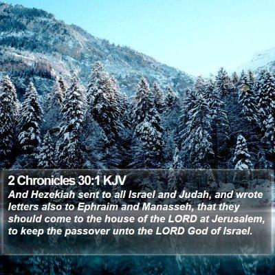 2 Chronicles 30:1 KJV Bible Verse Image