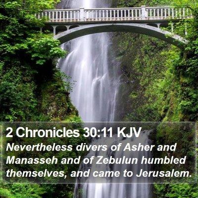 2 Chronicles 30:11 KJV Bible Verse Image
