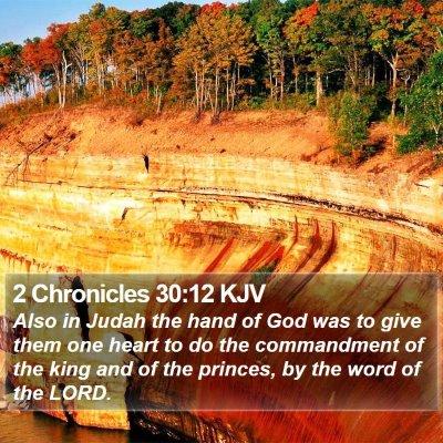 2 Chronicles 30:12 KJV Bible Verse Image