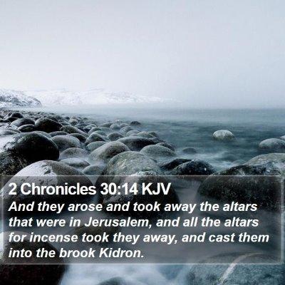 2 Chronicles 30:14 KJV Bible Verse Image
