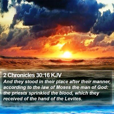 2 Chronicles 30:16 KJV Bible Verse Image