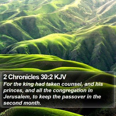 2 Chronicles 30:2 KJV Bible Verse Image