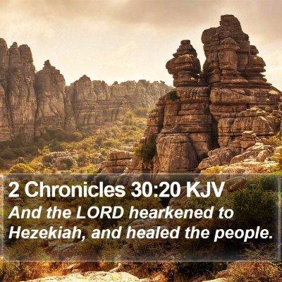 2 Chronicles 30:20 KJV Bible Verse Image