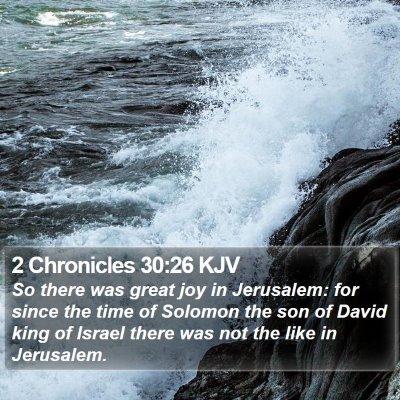 2 Chronicles 30:26 KJV Bible Verse Image