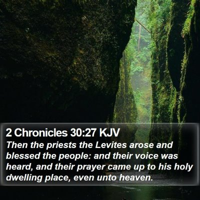 2 Chronicles 30:27 KJV Bible Verse Image