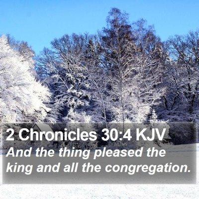 2 Chronicles 30:4 KJV Bible Verse Image