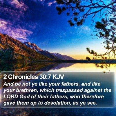 2 Chronicles 30:7 KJV Bible Verse Image