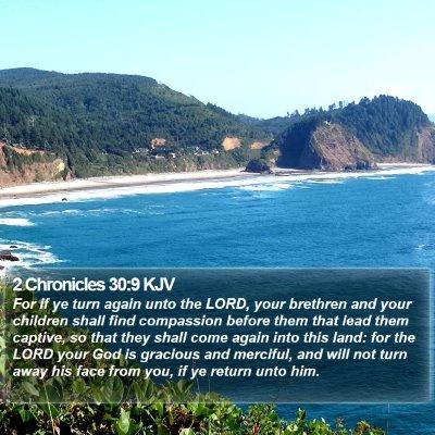 2 Chronicles 30:9 KJV Bible Verse Image