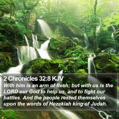 2 Chronicles 32:8 KJV Bible Verse Image
