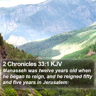 2 Chronicles 33:1 KJV Bible Verse Image